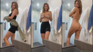 Ashley Tervort Nude Undressing Before Shower Video Leaked