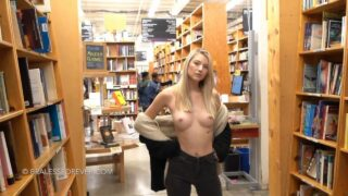 BralessForever Nude In Library Patreon Video