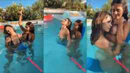 Violet Summers Sister Riding a Pool Noodle With Her!